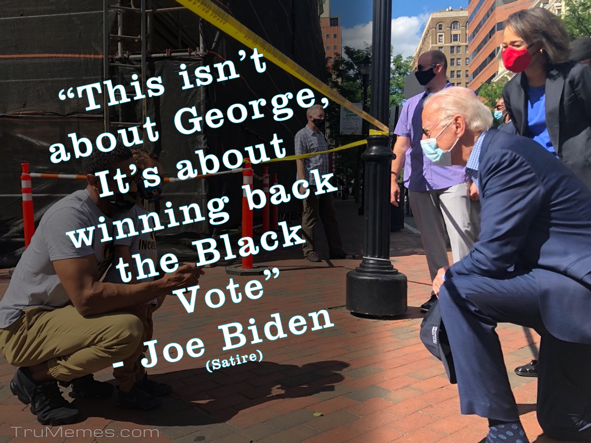 If Joe Biden could speak the truth or Take a Knee for Antifa
