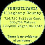 Alleghany County Pennsylvania, 120,966 Magic Ballots